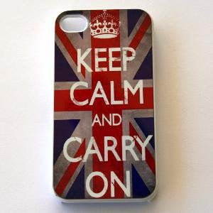 Hard iPhone Case England Flag British Keep Calm by CreateItYourWay