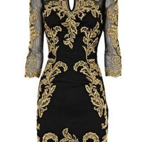 Starry Baroque Mesh Dress
