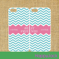 best friends 2pcs - iPhone 4 case , iphone 5 case , ipod touch case, samsung galaxy S3 case, galaxy note 2 case in black or white