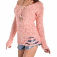 Amazon.com: NI9NE Brand Bonnie Slash Back Sweater Top (Fits US Size 4 - 10) Item #EV841B-Pink: Clothing