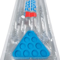 Inflatable Pool Pong Raft with Freezable Ice Cup Racks - 6.5 Feet Long - Portable Pong Surface by S