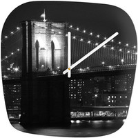 Leonidas Oxby Brooklyn Bridge 125 Modern Clock
