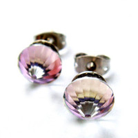 Last Pair Rare Vintage Swarovski Violet Purple by BreatheCouture