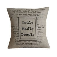 'Truly Madly Deeply' Cushion