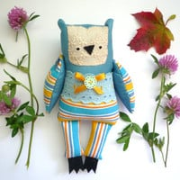 Berta Little  Owl, soft art toy by Wassupbrothers