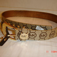 NWT Michael Kors Women's Monogram Logo Signature Belt Small $45