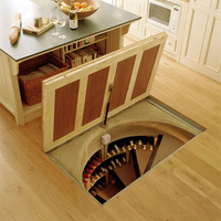 Trapdoor in the Kitchen Floor:  Spiral Wine Cellars  | The Kitchn