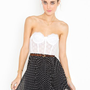 Spotted Swing Skirt - Black