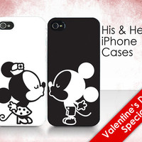 His &amp; Hers Cases - &quot;Mickey and Minnie Kissing&quot; - 2 iPhone Covers