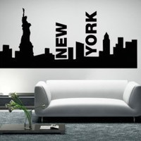 New York Skyline - Wall Decals | My Wall Decal Shop | Decorating Ideas &amp; Wall Stickers