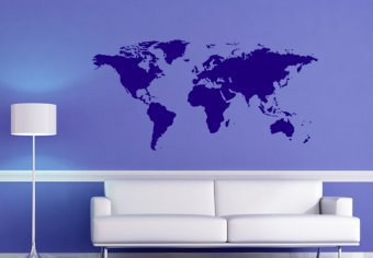 World Map - Wall Decals | My Wall Decal Shop | Decorating Ideas & Wall Stickers