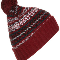 Traditional Fairisle Hat - Topshop
