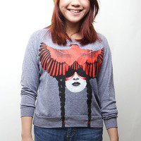 American Apparel, Pullover, Animal, Cardinal Warrior Sweater, Available S-L
