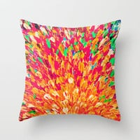 NEON SPLASH - WOW Intense Dash of Cheerful Color, Bold Water Waves Nature Lovers Modern Abstract  Throw Pillow by EbiEmporium | Society6