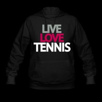 live love tennis Hoodie | Spreadshirt | ID: 6943310