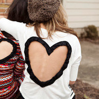 Heart Cut out Sweater, FOLLOW ME @abbazaba