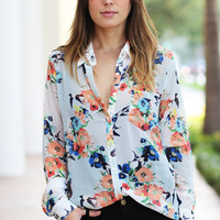 Floral Frenzy Blouse - Furor Moda - Tops - Dresses - Jackets - Vintage