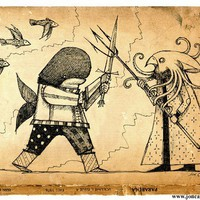 Sea Battle by joncarling on Etsy