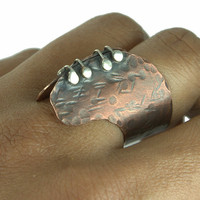 Locked Wings Mixed Metal Ring Sterling Silver and by Excognito