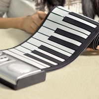 Roll Up Electronic Piano - $70