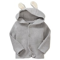 Peter Rabbit Garter-Stitch Cardigan - $35
