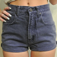 High Waisted Shorts Size 1 / 2 Ami Vintage Cuffed by ShopMilky