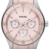 Fossil Stella Aluminum And Stainless Steel Watch Blush Es3037
