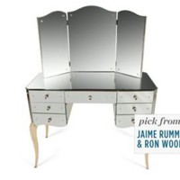 One Kings Lane - Get the Look - French Mirrored Vanity