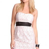 White Multi Strapless Sweetheart Neckline Crochet Decor Party Dress @ Amiclubwear sexy dresses,sexy dress,prom dress,summer dress,spring dress,prom gowns,teens dresses,sexy party wear,women's cocktail dresses,ball dresses,sun dresses,trendy dresses,sweate