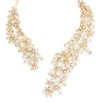 BCBGMAXAZRIA - WHAT'S NEW: STONE FLORAL NECKLACE