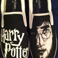 Harry Potter Painted Men's Shoes by Nickinverted on Etsy