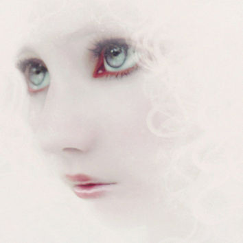 Ethereal Portrait Woman Portrait Soft White Pink Blue eyes