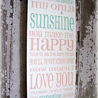 You Are My Sunshine Shabby Chic Typography Sign-Charcoal Gray Yellow-Grey