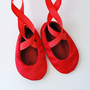Red Baby Ballerina Slippers