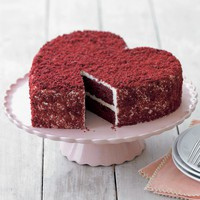 Perfect Endings Red Velvet Heart Shaped Cake