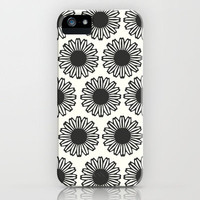 Vintage Flower_Black1 iPhone Case by Garima Dhawan | Society6