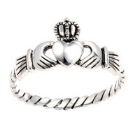 Authentic .925 Sterling Silver Irish Friendship & Love Claddagh Ring Antique Finish Special Limited Time Offer Super Sale Price, Comes with a Free Gift Pouch and Gift Box: Jewelry: Amazon.com