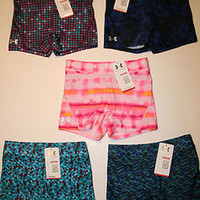 "Under Armour Women's Kick It 3"" Shorts Compression Heatgear Various Patterns New"
