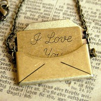 Love Letter Necklace - RagTraderVintage.com
