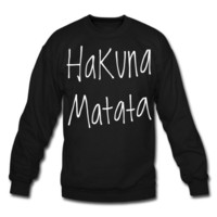 Amazon.com: Spreadshirt, Hakuna Matata., Men's Crewneck Sweatshirt: Clothing