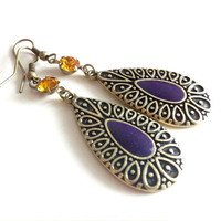 Honeydrop Purple Earrings