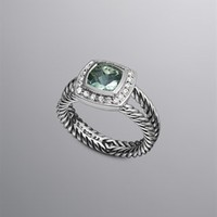 David Yurman | Diamond, Gold &amp; Sterling Silver Rings | Women&#x27;s Jewelry | David Yurman | Petite Albion Ring, Prasiolite