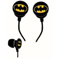 Amazon.com: iHip DCF10163BM Classic Batman Logo Hi-Fi Noise Reducing Ear Buds (Earphones) Black/Yellow: Electronics