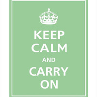 Keep Calm and Carry On Print 8x10 Bonsai featured by PosterPop