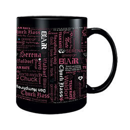 Gossip Girl Names/Quotes Black Mug: WBshop.com - The Official Online Store of Warner Bros. Studios