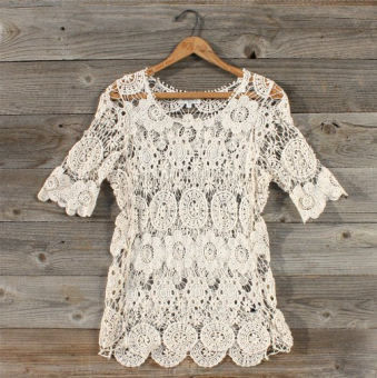 January Lace Blouse, Sweet Country Women's Clothing
