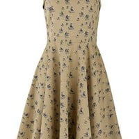 Dresses - Amy Boat Print Dress