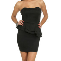 Sweetheart Double Peplum Dress | Shop Dresses at Wet Seal
