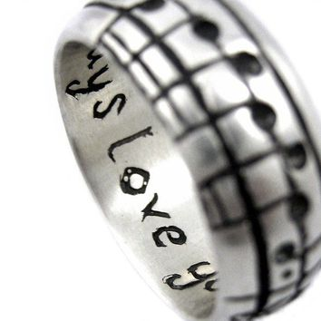 Your Song Ring Custom Notes to Your Favourite by Ricksonjewellery