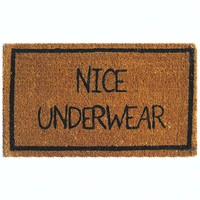 Nice Underwear Coir Door Mat at Brookstone